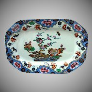 "Spode Chinoiserie Tray or Teapot Stand, New Stone, ""Willis"" Pattern,  Antique Early 19th C"