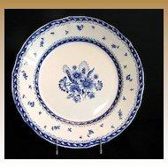 """Arabia of Finland Dinner Plate,  Blue & White. """"Finn Flower Blue"""" Pattern"""