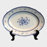 "Arabia of Finland Platter, Large 16"" Oval, Blue & White, ""Finn Flower Blue"""