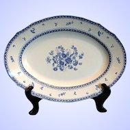 """Arabia of Finland Platter, Large 16"""" Oval, Blue & White, """"Finn Flower Blue"""""""