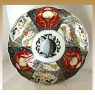 Antique Imari Plate, Stylized Peach,  Late Meiji Era