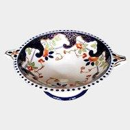 Antique English Large Pedestal Bowl, 19th C  Imari