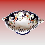 Antique English Imari Large Pedestal Comport or Bowl, 19th C