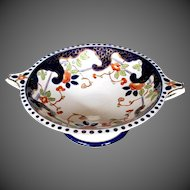 Antique English Large Pedestal Bowl, 19th C  Imari