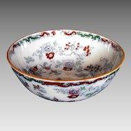 Mason's/Ashworth Ironstone Large Centerpiece Bowl, Chinoiserie, Antique 19th C