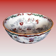 Mason's/Ashworth Ironstone Large Centerpiece Bowl, Chinoiserie, Antique 19th C