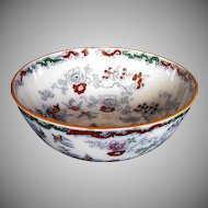Mason's Ironstone Large Bowl, Chinoiserie, Antique 19th C