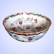 Antique Mason's/Ashworth Ironstone Large Centerpiece Bowl, Chinoiserie, 19th C