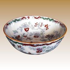 Ashworth/Mason's Ironstone Large Bowl, Chinoiserie, Antique 19th C
