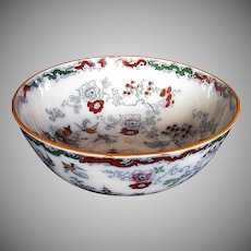 Ashworth/Mason's Ironstone Large Bowl, Chinoiserie, Antique 19th C