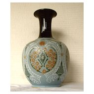 Lovatt Langley Mill, Osborne Ware Vase,  Antique English Art Pottery, Repaired