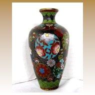 Japanese Cloisonne Vase, Small, Antique Meiji Era