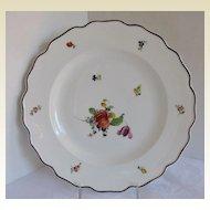 "Nymphenburg Plate,  Scarce ""Alte Blumen""  Pattern, German Porcelain"