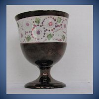 Antique English Goblet, Early 19C Copper Lustre