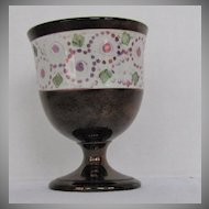 English Copper Lustre Goblet, Antique Early 19th C