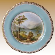 Cabinet Plate, Named View, Antique Early 19th C  English Porcelain