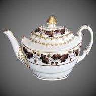 Antique English Teapot,  Early 19th C Barr Worcester