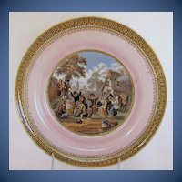 Antique Pratt Plate, Pink Ground, 19th C English #2