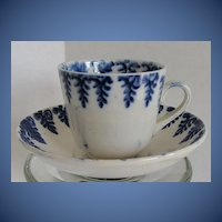 Antique Child's Cup & Saucer, Spatterware, 19th C English