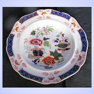 Antique Ridgway Soup Plate, Imperial Stone China, Chinoiserie, Early 19th C