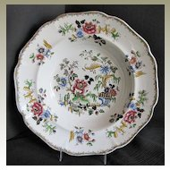 """Rare Zachariah Boyle Soup Plate,  """"Indian Plants"""", Antique Early 19th C English"""