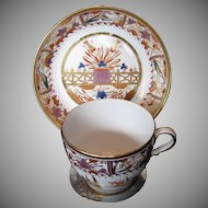 Spode Porcelain Cup & Saucer, Antique English Imari, Early 19th C