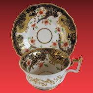 John & William Ridgway Cup & Saucer, English Imari, Antique Early 19th C Porcelain