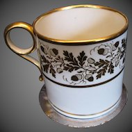 Antique Coffee Can/Cup, Worcester, Georgian, Early 19th C