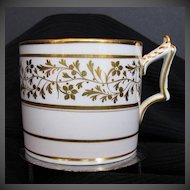 Antique Worcester Coffee Can/Cup, Gilded, Early 19th C Georgian