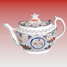 Thomas Wolfe Teapot, (Factory Z), Bridged Spout,  Antique Early 19th C English Porcelain