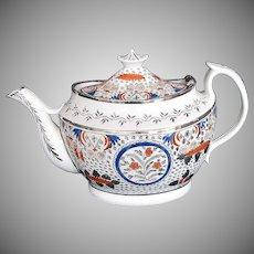 Rare Teapot, Bridged Spout, Thomas Wolfe, Factory Z, Antique Early 19th C English Porcelain