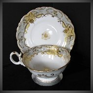 Antique English Cup & Saucer, Coalport Early 19th C