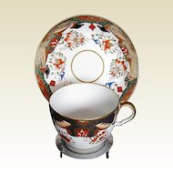 Antique Spode Cup & Saucer, 1645 English Imari,  Early 19th C