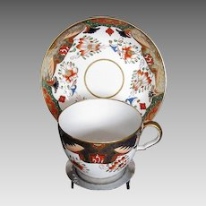 Spode Cup & Saucer, English Imari, Antique Early 19th C