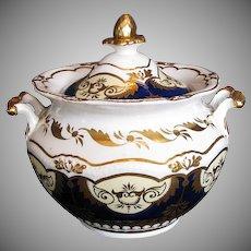 Rare John Yates Porcelain Sucrier Sugar, Antique Early 19th C English