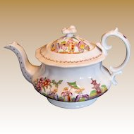 "Hilditch Teapot, ""Dancing Dog"", Antique Early 19th C English Chinoiserie"