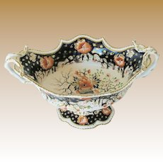 Grainger, Lee & Co., Worcester Porcelain Centerpiece Bowl, English Imari, Antique Early 19th C