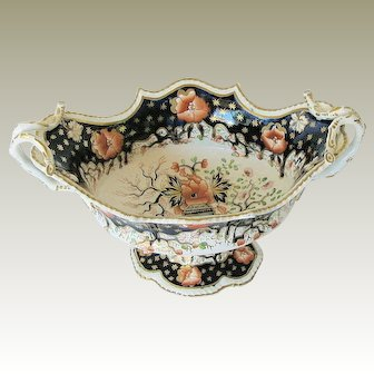 Grainger, Lee & Co., Worcester Porcelain Centerpiece Bowl, English Imari, Antique Early 19th C