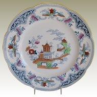 Cauldon Plate, English Chinoiserie, Antique c 1902