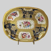 Antique Hicks & Meigh Teapot Stand, Richly Decorated & Gilded, Early 19th C English