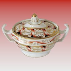 John Rose Coalport Sucrier (Sugar),  Antique Early 19th C English Porcelain