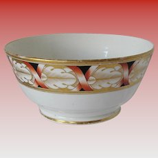 John Rose Coalport Waste Bowl, Antique Early 19th C English Porcelain