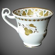 Antique Spode Cup, Rare Pattern with Raised Gold, Early 19th C Porcelain