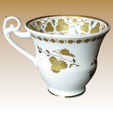 Rare Spode Cup, Green w/ Raised Gold,  Antique Early 19th C English Porcelain