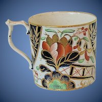 Antique Porcelain Coffee Can, English Imari,  Bloor Derby Early 19th C