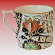 Bloor Derby Coffee Can, English Imari,  Antique Early 19th C Porcelain