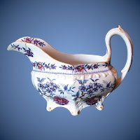 Antique English Creamer, Stone China,  Early 19th C Ridgway
