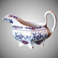 Rare John & William Ridgway Creamer, Stone China, Antique Early 19th C English Chinoiserie