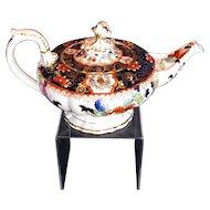 Rare C.J. Mason Bone China Teapot, English Imari,  Antique Early 19th C