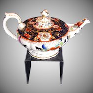 Rare C.J. Mason Bone China Teapot, English Imari,  Antique Early 19th C